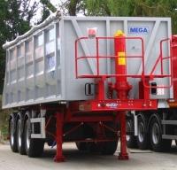 Самосвальный стальной полуприцеп МЕГА 28 куба